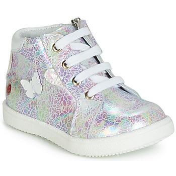 kengät Tytöt Korkeavartiset tennarit GBB MEFITA White / Pink