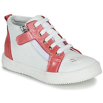 kengät Tytöt Korkeavartiset tennarit GBB MIMOSA White / Pink