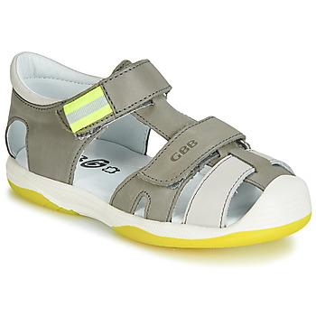 kengät Pojat Sandaalit ja avokkaat GBB BERTO Grey / Yellow