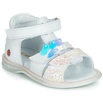 kengät Tytöt Sandaalit ja avokkaat GBB MESTI White / Hopea