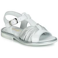 kengät Tytöt Sandaalit ja avokkaat GBB MESSENA White / Hopea
