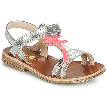 kengät Tytöt Sandaalit ja avokkaat GBB SAPELA Hopea / Pink