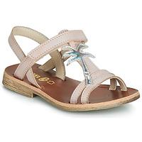 kengät Tytöt Sandaalit ja avokkaat GBB SAPELA Pink / Hopea