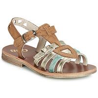 kengät Tytöt Sandaalit ja avokkaat GBB FANNI Cognac / Kulta