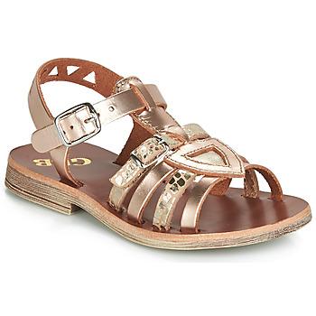 kengät Tytöt Sandaalit ja avokkaat GBB FANNI Pink / Kulta / Kulta