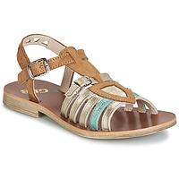 kengät Tytöt Sandaalit ja avokkaat GBB FANNI Brown / Kulta