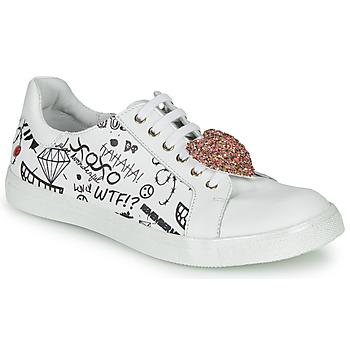 kengät Tytöt Matalavartiset tennarit GBB MUTA White / Black