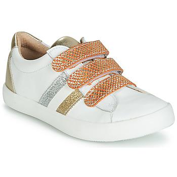 kengät Tytöt Matalavartiset tennarit GBB MADO White / Kulta