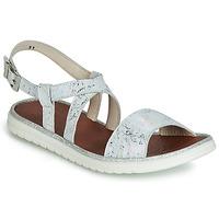 kengät Tytöt Sandaalit ja avokkaat GBB ADRIANA White / Hopea