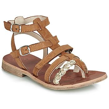 kengät Tytöt Sandaalit ja avokkaat GBB NOVARA Cognac / Kulta