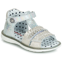 kengät Tytöt Sandaalit ja avokkaat Catimini BIRA Hopea / Beige