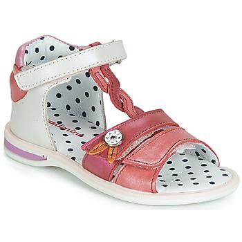 kengät Tytöt Sandaalit ja avokkaat Catimini GOROKA White / Red