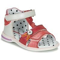 kengät Tytöt Sandaalit ja avokkaat Catimini GOROKA White / Pink