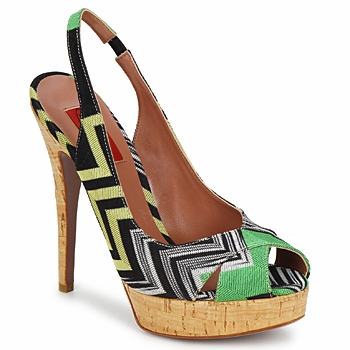 kengät Naiset Sandaalit ja avokkaat Missoni RM71 Vihreä