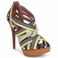 kengät Naiset Sandaalit ja avokkaat Missoni RM20 Yellow / White