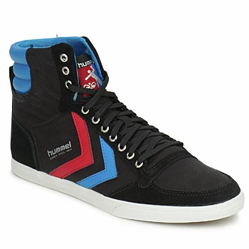kengät Miehet Korkeavartiset tennarit Hummel TEN STAR HIGH CANVAS Black / Blue / Red