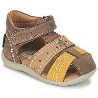 kengät Pojat Sandaalit ja avokkaat Kickers BIGBAZAR Brown / BEIGE / Yellow