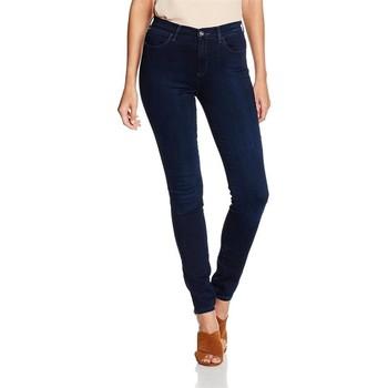 vaatteet Naiset Skinny-farkut Wrangler High Skinny W27HBV78Z navy
