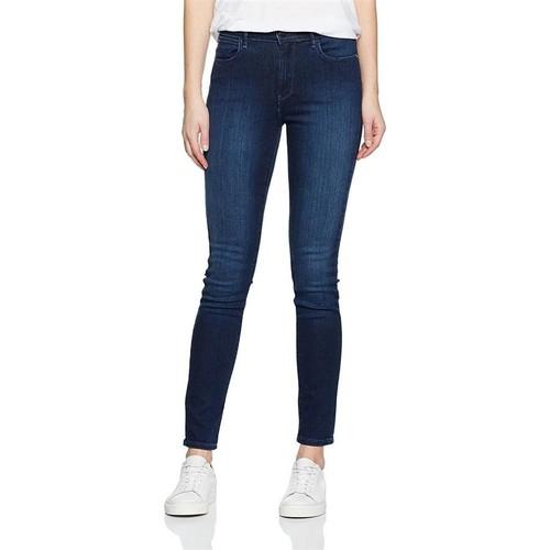 vaatteet Naiset Skinny-farkut Wrangler High Rise Skinny Subtle Blue W27HX786N navy