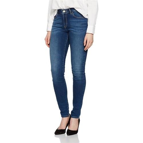 vaatteet Naiset Skinny-farkut Wrangler ® Skinny Authentic Blue 28KX785U blue