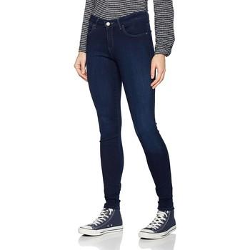 vaatteet Naiset Skinny-farkut Wrangler Super Skinny True Beauty W29JBV94Z navy