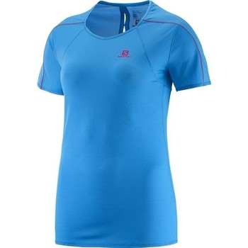 vaatteet Naiset Lyhythihainen t-paita Salomon Minim Evac Tee W 371146 blue