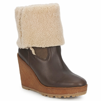 kengät Naiset Nilkkurit Pare Gabia NELICE CHOCOLAT