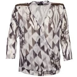vaatteet Naiset Topit / Puserot One Step CREPUSCULE Grey / Valkoinen