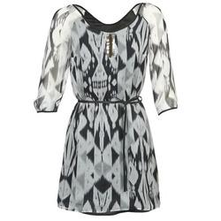 vaatteet Naiset Lyhyt mekko One Step ROSASITE Harmaa / Valkoinen