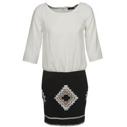 vaatteet Naiset Lyhyt mekko One Step RAMBOUTAN White / Black