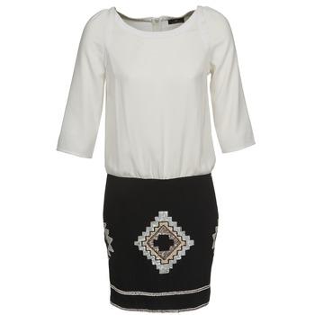 vaatteet Naiset Lyhyt mekko One Step RAMBOUTAN Valkoinen / Musta