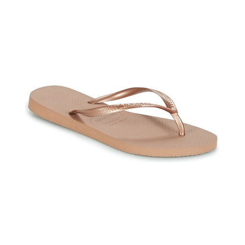 kengät Naiset Varvassandaalit Havaianas SLIM Pink / Kulta
