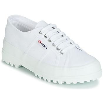 kengät Naiset Matalavartiset tennarit Superga 2555 COTU Valkoinen