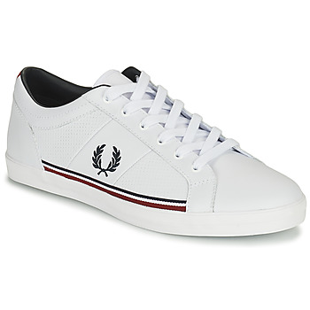 kengät Miehet Matalavartiset tennarit Fred Perry B722 White