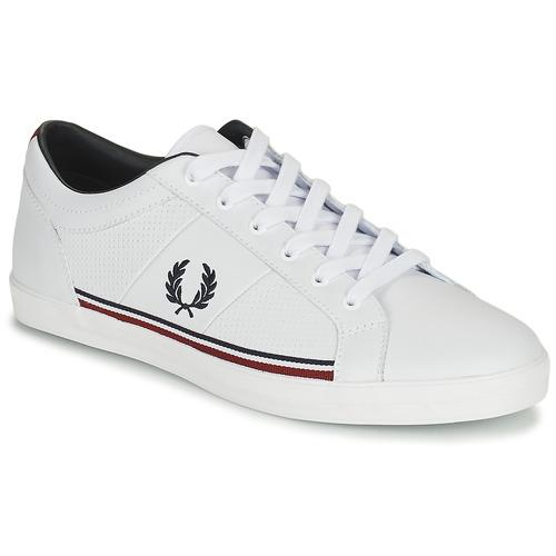 kengät Miehet Matalavartiset tennarit Fred Perry B722 White