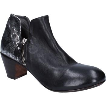 kengät Naiset Nilkkurit Moma tronchetti nero pelle argento BT38 Nero