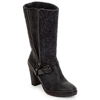 kengät Naiset Saappaat Buttero MERENS Black / Grey