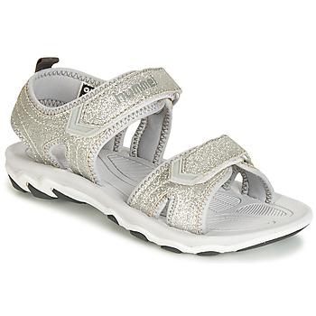 kengät Lapset Sandaalit ja avokkaat Hummel SANDAL GLITTER JR Hopea
