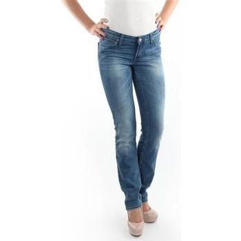 vaatteet Naiset Slim-farkut Lee Marlin Slim Straight L337OBDJ blue