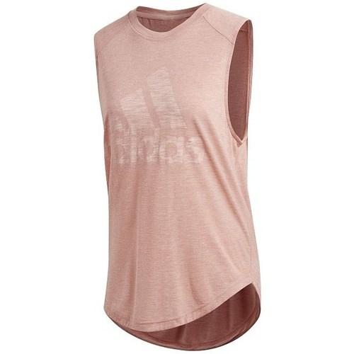 vaatteet Naiset Hihattomat paidat / Hihattomat t-paidat adidas Originals Winners Muscle Vaaleanpunaiset