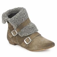 kengät Naiset Bootsit Bronx CREPOU Brown / Grey