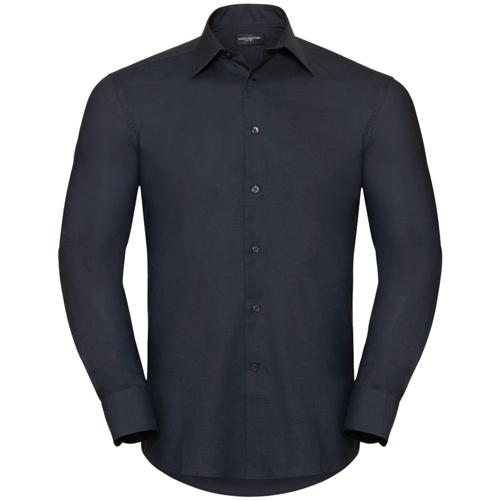 vaatteet Miehet Pitkähihainen paitapusero Russell 922M Black