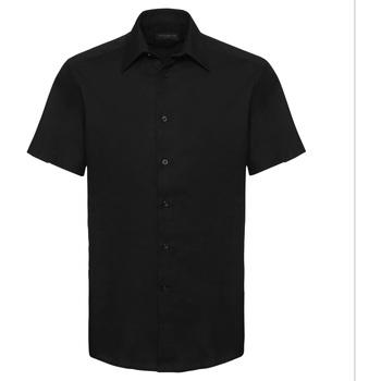 vaatteet Miehet Lyhythihainen paitapusero Russell 923M Black