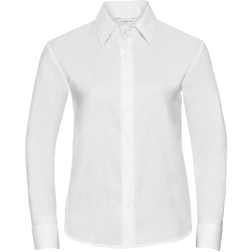 vaatteet Naiset Paitapusero / Kauluspaita Russell 932F White