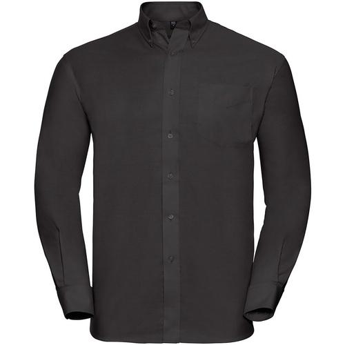 vaatteet Miehet Pitkähihainen paitapusero Russell 932M Black