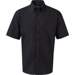 vaatteet Miehet Lyhythihainen paitapusero Russell 933M Black