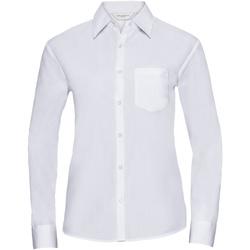 vaatteet Naiset Paitapusero / Kauluspaita Russell 934F White