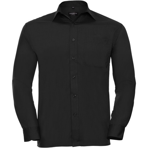 vaatteet Miehet Pitkähihainen paitapusero Russell 934M Black