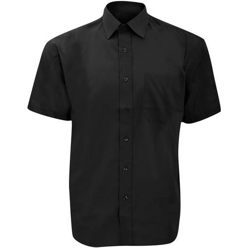 vaatteet Miehet Lyhythihainen paitapusero Russell 935M Black