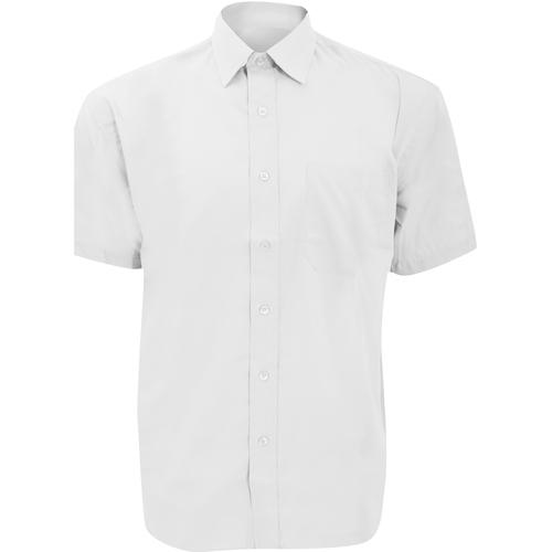 vaatteet Miehet Lyhythihainen paitapusero Russell 935M White